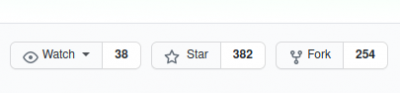 """A screenshot of a github page, showing the """"Watch"""", """"Star"""" and """"Fork"""" buttons, along with the amount of time they were clicked by others."""