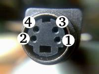 The 4 pin S-video connector.