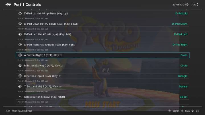 Your current system controls are reflected on the right.